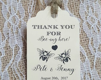 "Personalized Favor Tags 2.5""L x1.8""wWedding tags, Thank You tags, Favor tags, Gift tags, Bridal Shower Favor Tags, meant to bee, meant to be"