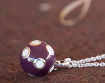 Angel Caller - Mexican Bola - Bola Necklace Charm - Harmony Ball - Chime Ball - Pregnancy Gift - Sterling Silver - Sphere Pendant Only