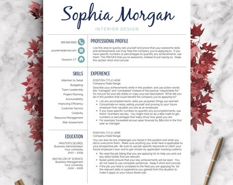 Creative Resume Template | Resume for Word and Pages | 1, 2 & 3 Page Resume Template, Icon Set, Cover Letter | Instant Download CV Template
