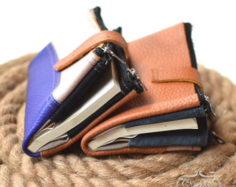 Leather Travel Notebook Wallet Pouch Journal Combo Handmade Colourful