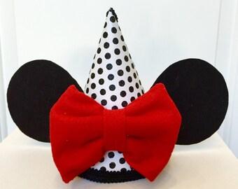 Minnie mouse birthday hat Girls birthday hat, over the top birthday, photo prop, first birthday hat,