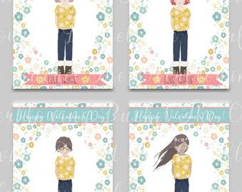 Assomiglia a Me San Valentino Card - carta di ragazza - Aula Cards - Cartoline di San Valentino personalizzato