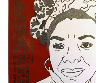 Maya Angelou on paper
