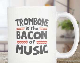 Trombone Coffee Mug Player Funny Gift