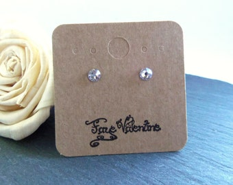 Crystal stud earrings, Swarovski crystal post earrings, Swarovski Elements, surgical steel earrings, 5mm crystal earrings, simple studs