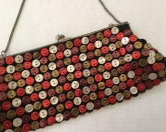 Vintage Purse / Button Clutch