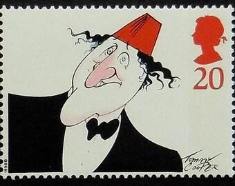 Tommy Cooper British Prop Comedian UK -Handmade Framed Postage Stamp Art 19883AM