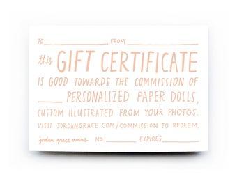 Papier-Puppe-Portrait-Geschenk-Gutschein