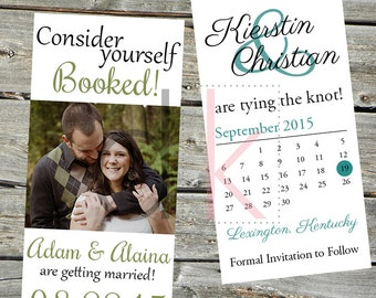 Bookmark Wedding Save the Dates (Digital and Print Options)