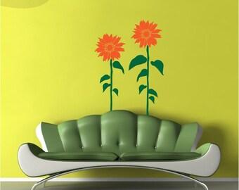 Sunflower Smiles - Flower Vinyl Wall Decal