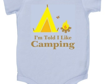 I'm Told I Like Camping Baby Graphic Bodysuit
