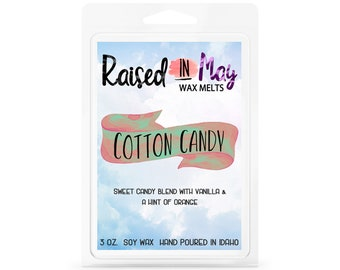 Cotton Candy Wax Melts - Wax Cube - Home Fragrance - Cotton Candy - Soy Wax Tart - Soy Wax Melt - Soy Wax - Candle - Soy Candle - Wax