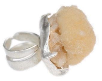 Thomsonite Seascape Ring Primitive Modern Organic