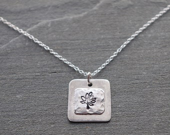 Tree Necklace, Sterling Silver Tree Necklace, Charm Necklace, Tree of Life Necklace, Minimalist Necklace, Small Pendant, womens gift