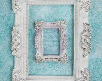 Prima Shabby Chic Treasures Collection Ingvild Bolme Resin Baroque Frames Embellishments