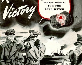 """Knitting Patterns PDF For 1940'S Wartime"""" Knit for Victory""""-  USA - Instant Download"""