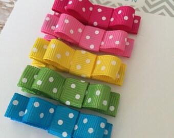 Baby Hair Clip Set - Infant Hair Clip - Hair Clip for Baby - Baby Hair Clip - Set of baby barrettes - Girls Hair Clip Set - Rainbow Hair Bow
