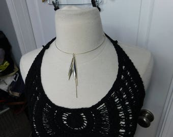 Beautiful Vintage  Silver Choker Style Necklace
