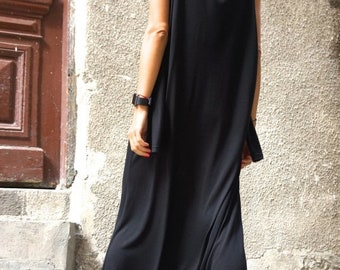 SALE NEW Collection AW Black Viscose  Jumpsuit  / Extravagant Loose Jumpsuit  both long sleeves and sleeveless  by Aakasha A19316