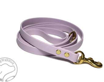 """Lavender Pastel Purple Small Dog Leash - 1/2"""" (12mm) Wide Biothane - Choice of: 4ft, 5ft or 6ft (1.2m, 1.5m or 1.8m) and Hardware Type"""