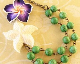 Statement Necklace Starfish Necklace Starfish Jewelry Beach Jewelry Bib Necklace