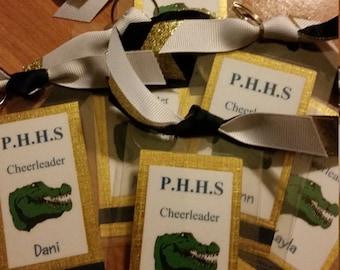Varsity Cheerleading Luggage Tags, Cheer Luggage Tags, Cheerleading Bag Tags, Cheerleading Luggage Tags, Cheerleading Gifts
