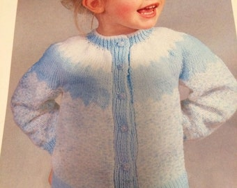 Girls Cardigan 51-66cm Knitting Pattern