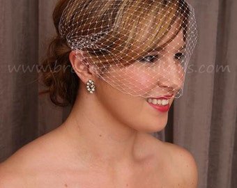 Birdcage Veil, Wedding Veil, Bridal Veil, Bandeau - Available In A Wide Range Of Colors