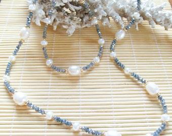 Labradorite Necklace and Bracelet Set