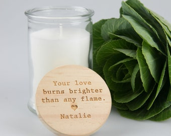 Mother's Day Wooden Lid Candle