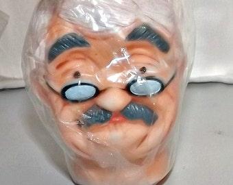 Primitive Doll Craft Part, Rubber Head For Grandpa Doll