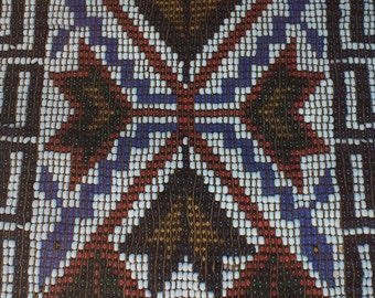 Vintage Wrapping Paper - American Indian Ojibwa Beadwork at Milwaukee Public Museum - All Occasion - 1 Unused Full Sheet Gift Wrap