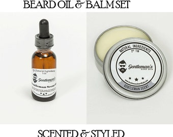 Beard Oil and Balm Kit - Choose Scents