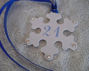 Hanging Snowflake Table Number Tags - Item 1113