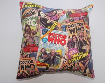 """12""""x 12"""" Dr. Who Comic Book Pillow"""