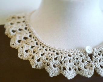 Crochet collar vintage style