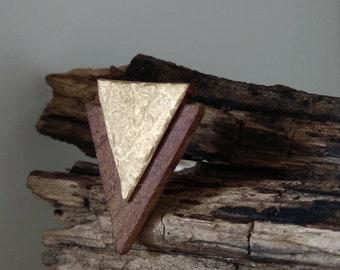Italian Walnut Wood Golden Ring