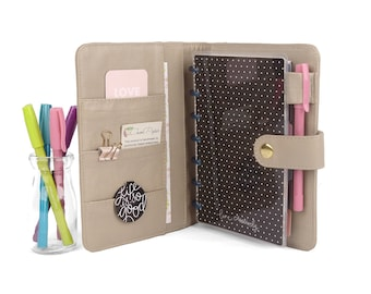 JOY- Mini Planner Cover for Coil Bound / Discbound Planners like Happy Planner Mini