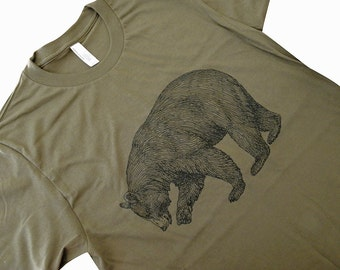 BEAR T-Shirt - Grizzly Bear California State Bear Mens UNISEX T-Shirt - (Available in sizes S, M, L, XL