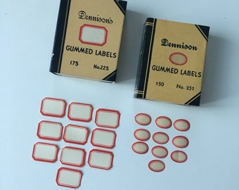 Dennison very small gummed labels