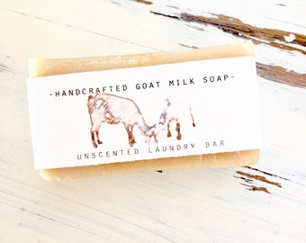 Natural Laundry Stain Stick, Handcrafted Goat's Milk Soap, All Natural Soap, Coconut Oil Laundry Soap