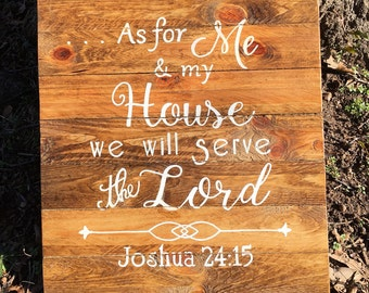 As for me and my House Wood sign~ Pero yo y mi casa letrero~ Joshua 24 15~ Josue 24 15~ Verse Wood Sign~ Christian Wood Sign~ Spanish Sign