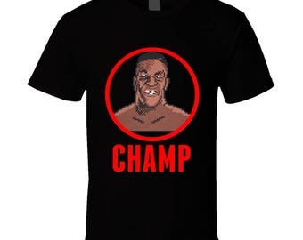 Mike Tyson's Punch Out The Champ 8 Bit T Shirt