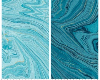 "Light or Dark Blue Water Ripples Landscape/Nature 45"" wide 100% cotton fabric [[by the half yard]]"