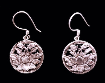 Lotusflower Silver Earrings