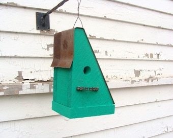 Rustic Birdhouse - Bike Chain Birdhouse - Outdoor Birdhouse - Functional Birdhouse -  Bird Houses