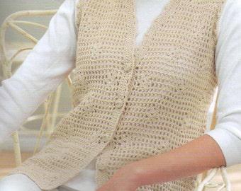 PDF Women Crochet Vest Pattern /Women Vest Pattern/Sizes Bust 32-42