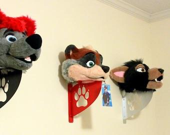 Fursuit Head Wall Shelf