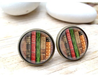 Book Earrings, Book studs, Earrings for book lovers, For Readers, Book Nerds, Librarian Earring, Librarian Studs