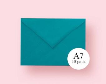 5x7 Teal Envelopes | A7 Teal Envelopes | Set of 10